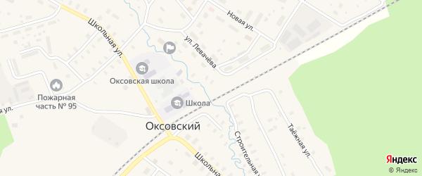 Гаражная улица на карте Оксовский поселка с номерами домов