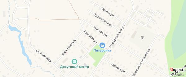 Торговая улица на карте Оксовский поселка с номерами домов