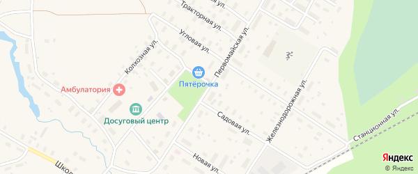 Первомайская улица на карте Оксовский поселка с номерами домов