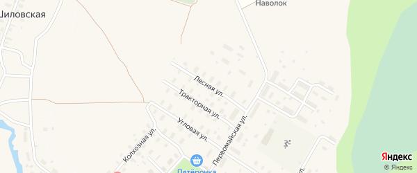 Лесная улица на карте Оксовский поселка с номерами домов