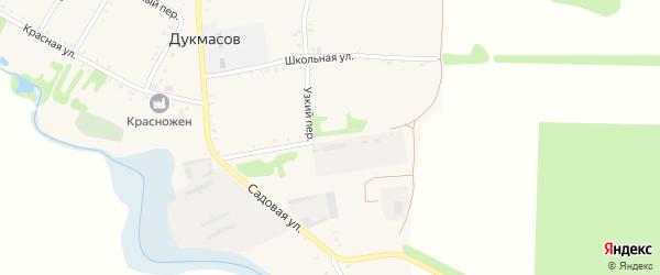 Восточная улица на карте хутора Дукмасов с номерами домов