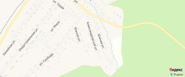 Александровская улица на карте Оксовский поселка с номерами домов