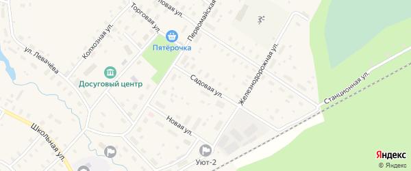 Садовая улица на карте Оксовский поселка с номерами домов