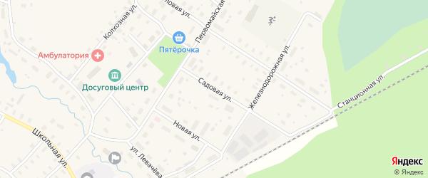 Улица Садовя на карте садового некоммерческого товарищества СОТА Строителя с номерами домов