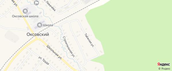 Таежная улица на карте Оксовский поселка с номерами домов