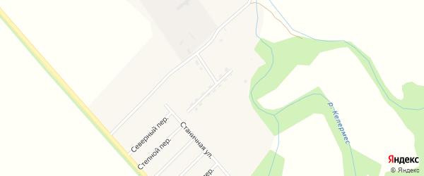 Северная улица на карте Ханской станицы с номерами домов