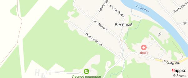 Подгорная улица на карте Ханской станицы с номерами домов
