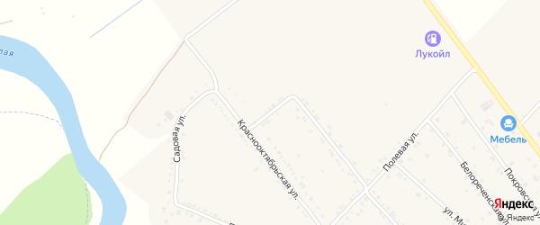 Белореченский переулок на карте Ханской станицы с номерами домов