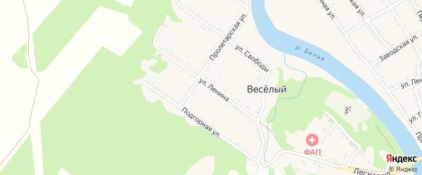 Улица Ленина на карте Веселого хутора с номерами домов