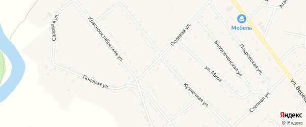 Полевая улица на карте Ханской станицы с номерами домов