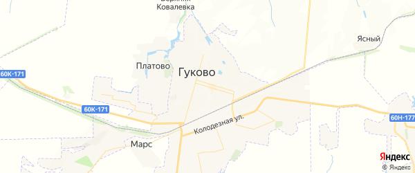 Карта Гуково с районами, улицами и номерами домов
