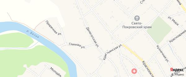 Делегатская улица на карте Ханской станицы с номерами домов