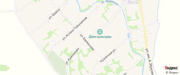Улица им К.Кумпилова на карте аула Уляпа с номерами домов