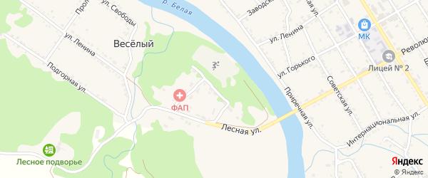 Лесная улица на карте Веселого хутора с номерами домов