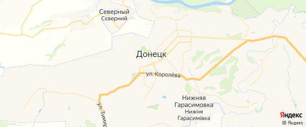 Карта Донецка с районами, улицами и номерами домов
