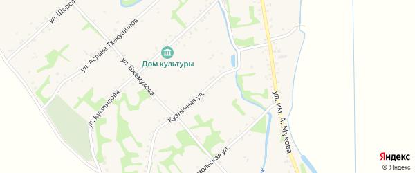Кузнечная улица на карте аула Уляпа с номерами домов