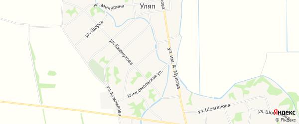 Карта аула Уляпа в Адыгее с улицами и номерами домов