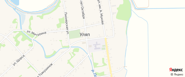 Улица им братьев Шекультировых на карте аула Уляпа с номерами домов