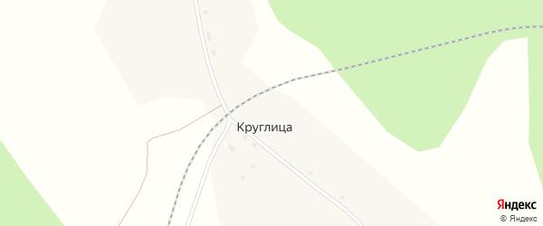 Центральная улица на карте поселка Круглицы с номерами домов