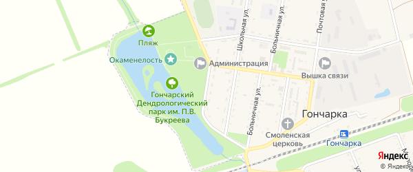 Новая улица на карте поселка Гончарки с номерами домов