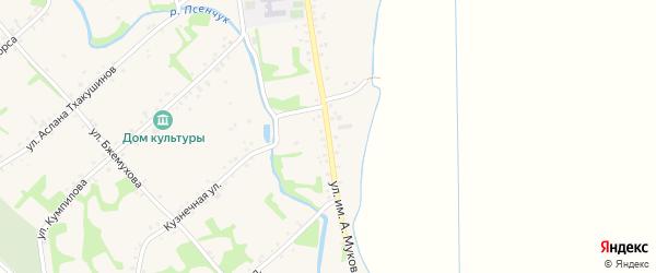 Улица им А.Мукова на карте аула Уляпа с номерами домов