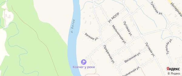 Речная улица на карте Ханской станицы с номерами домов