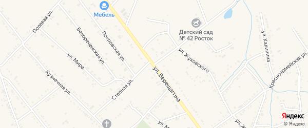 Степная улица на карте Ханской станицы с номерами домов