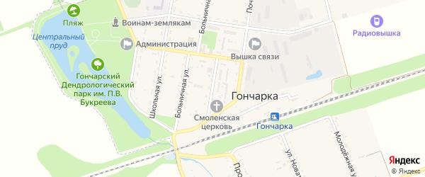 Садовая улица на карте поселка Гончарки с номерами домов