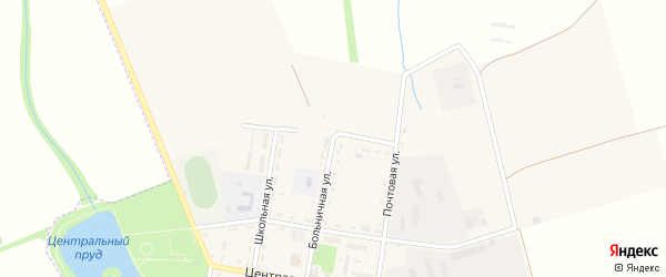 Степная улица на карте поселка Гончарки с номерами домов
