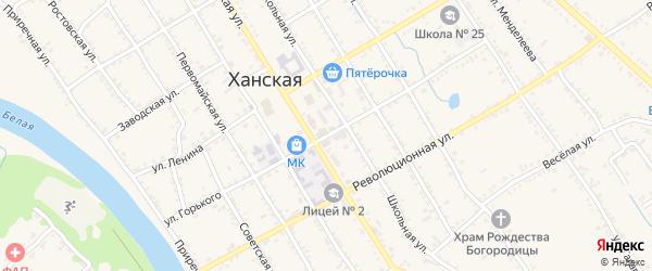 Улица Горького на карте Ханской станицы с номерами домов