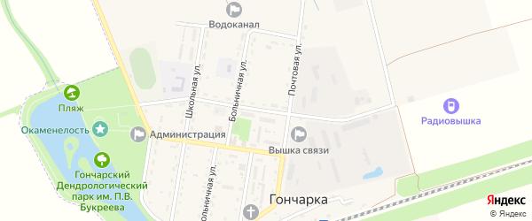 Гиагинская улица на карте поселка Гончарки с номерами домов