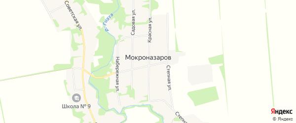 Карта хутора Мокроназарова в Адыгее с улицами и номерами домов