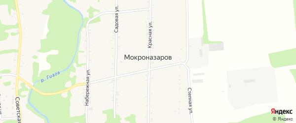 Дорога А/Д Подъезд к х. Мокроназаров на карте хутора Мокроназарова с номерами домов