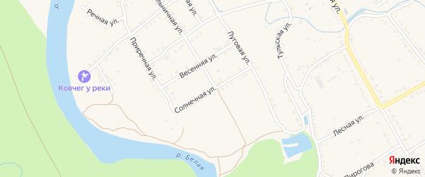 Солнечная улица на карте Ханской станицы с номерами домов