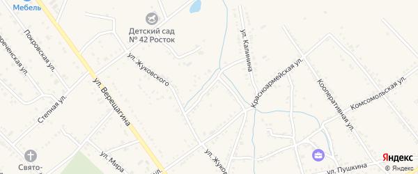 Калинина 2-я улица на карте Ханской станицы с номерами домов