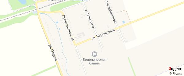 Улица Черемушки на карте поселка Гончарки с номерами домов