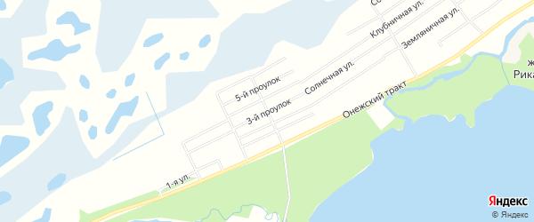 СНТ ВЫСОТА на карте Северодвинска с номерами домов