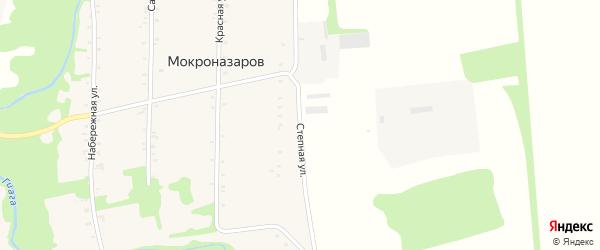 Степная улица на карте хутора Мокроназарова с номерами домов
