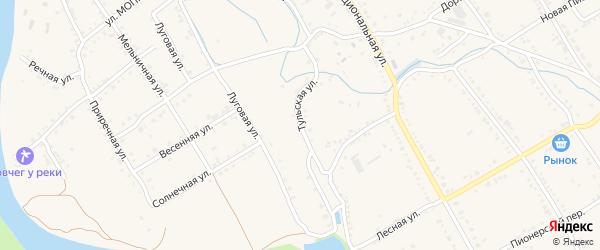 Тульская улица на карте Ханской станицы с номерами домов