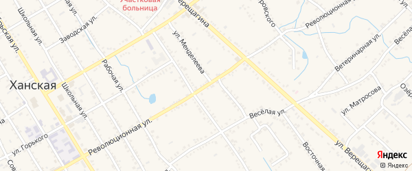Революционная улица на карте Ханской станицы с номерами домов