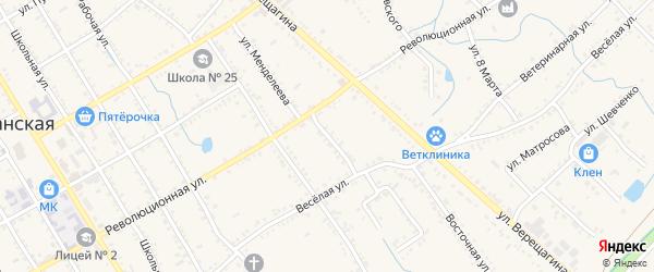 Улица Менделеева на карте Ханской станицы с номерами домов