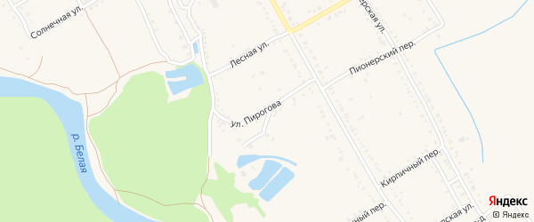 Улица Пирогова на карте Ханской станицы с номерами домов