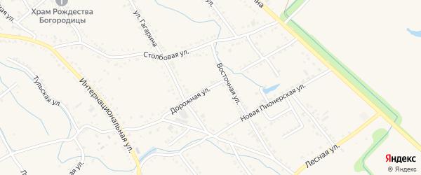 Дорожная улица на карте Ханской станицы с номерами домов
