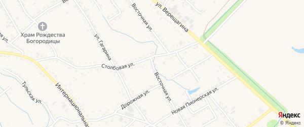Восточная улица на карте Ханской станицы с номерами домов