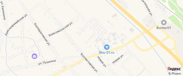 Коллективный переулок на карте Ханской станицы с номерами домов