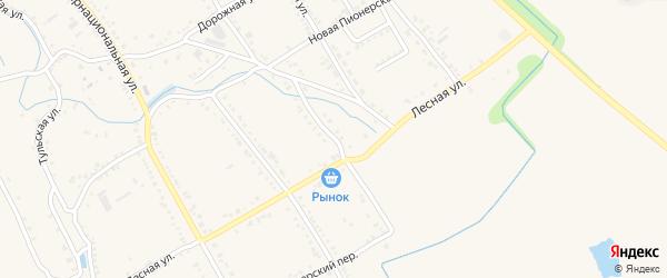 Улица Новая Гагарина на карте Ханской станицы с номерами домов