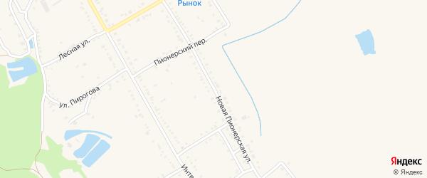 Пионерская улица на карте Ханской станицы с номерами домов