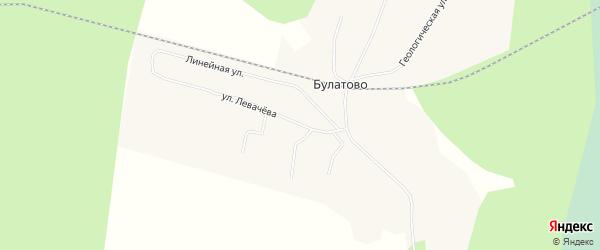 Карта поселка Булатово в Архангельской области с улицами и номерами домов