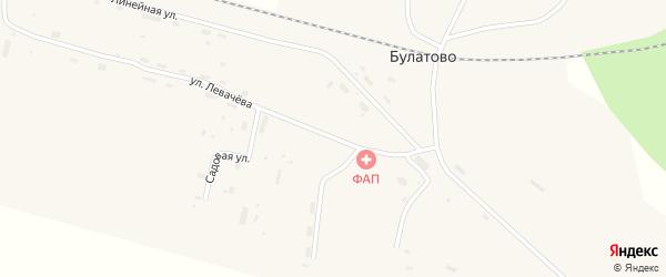 Улица Левачева на карте поселка Булатово с номерами домов