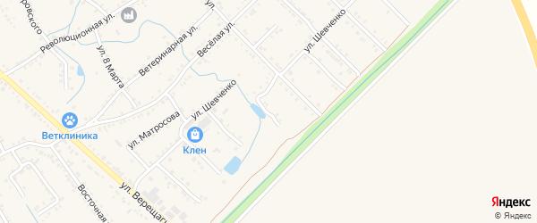 Переулок Шевченко на карте Ханской станицы с номерами домов
